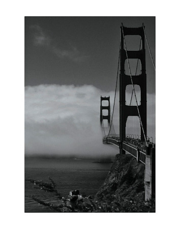 Golden Gate Fog Reproduction d'art
