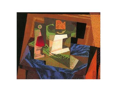 Fruit Bowl on a Tablecloth Prints by Juan Gris