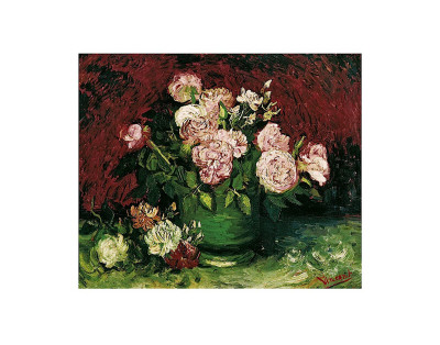 Roses and Peonies, c.1886 Kunstdruck