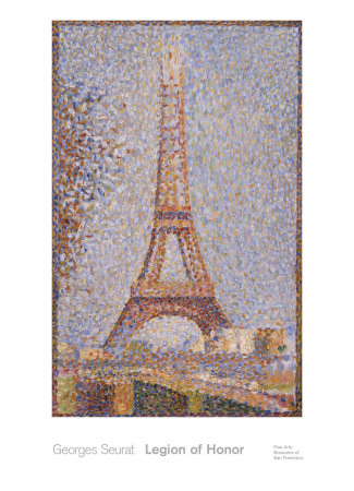 Eiffel Tower, c.1889 Art by Georges Seurat
