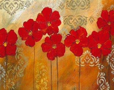 Red Symphony I Prints by Lilian Scott