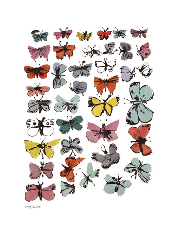 Butterflies, 1955 (Many/Varied Colors) Poster di Andy Warhol