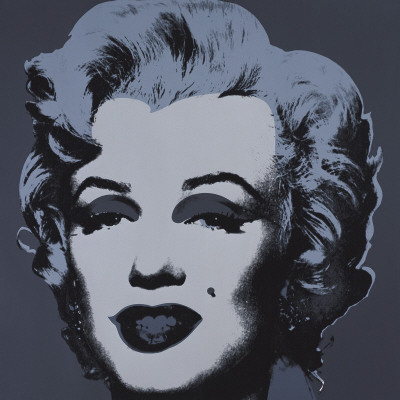Marilyn Monroe, 1967 (black) Art Print