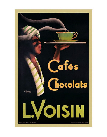 L. Voisin Cafes and Chocolats, 1935 Art Print