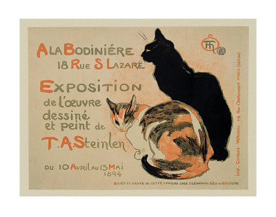 Exposition at Bodiniere Print by Théophile Alexandre Steinlen
