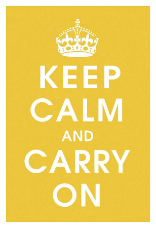 Keep Calm (mustard) Kunsttryk