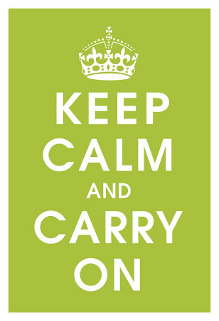 Keep Calm (kiwi) Art Print