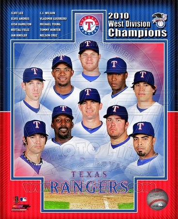 Texas Rangers 2010 American League West Division Champions Composite Photo