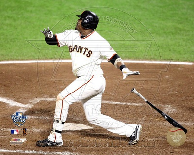 Juan Uribe Game One of the 2010 World Series Home Run Action Photo