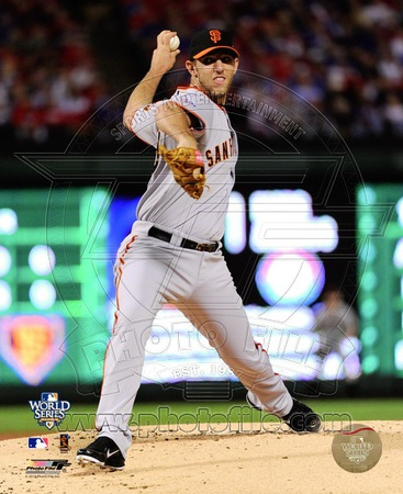 Madison Bumgarner Game Four of the 2010 World Series Action Photo
