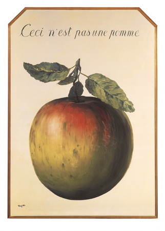 Ceci n'est pas une pomme Posters by Rene Magritte