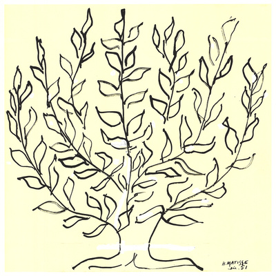 De Struik Zeefdruk van Henri Matisse