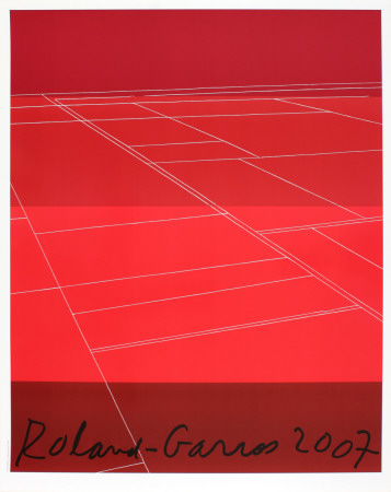 Roland Garros, 2007 Collectable Print by Kate Shepherd