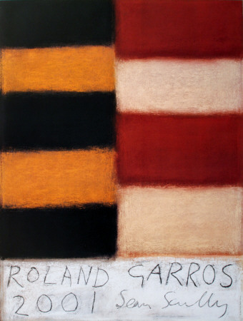 Roland Garros, 2001 Collectable Print by Sean Scully