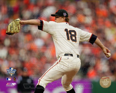 Matt Cain Game Two of the 2010 World Series Action Photo