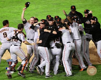 The San Francisco Giants Team Celebration Game Five of the 2010 World Series Photo