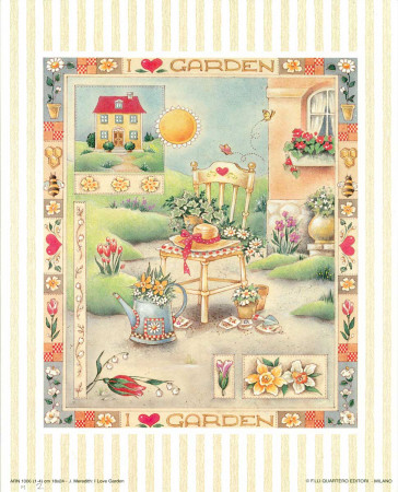 I Love Garden II Print by C. Meredith