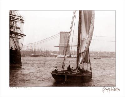 Brooklyn Bridge Under Construction, c.1877 Posters