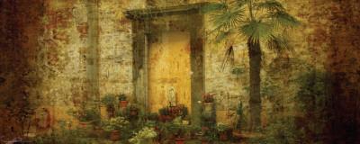 Golden Door with Palm Posters