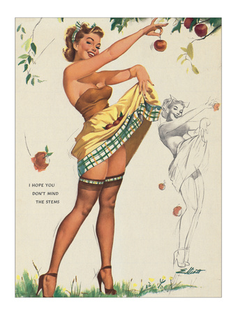 I Hope You Don't Mind the Stems Giclee Print by Elliott Freeman