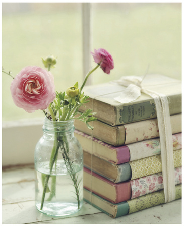 Blooming Books Art Print