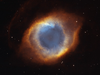 Hubble Telescope Image of the Helix Nebula Fotografisk tryk