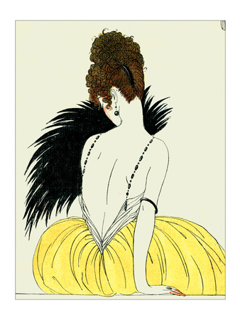 Woman with Fan Giclee Print by Georges Barbier