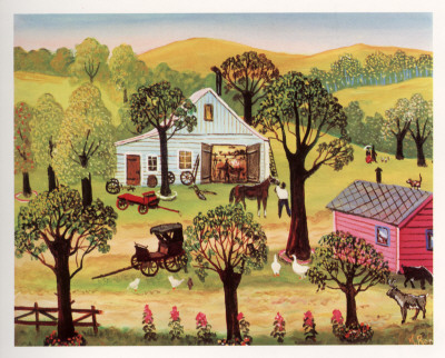 The Village Smithy Posters by Konstantine Rodko