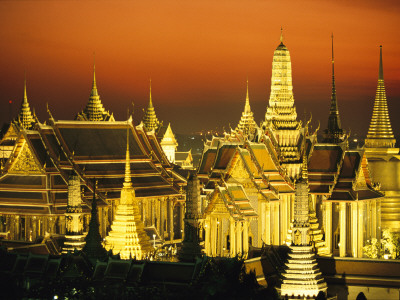 Grand Palace and Temple of the Emerald Buddha, Wat Phra Kaeo Fotografisk tryk