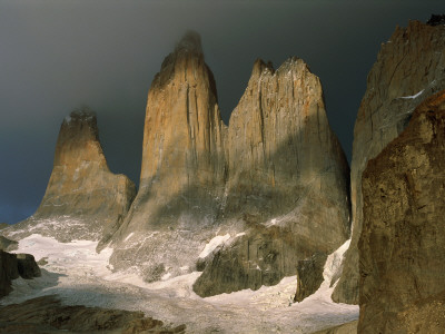 Sharp, Towering Mountain Peaks in Torres Del Paine, Chile Photographic Print by Barry Tessman
