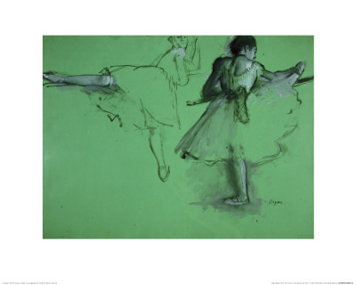 Dancers Practising at the Barre Giclee Print by Edgar Degas