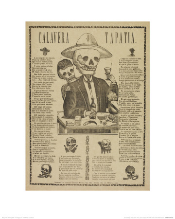 Calavera Tapatia Lmina gicle