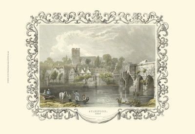 Aylesford Posters by William Tombleson