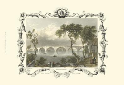 Kew Bridge Art by William Tombleson