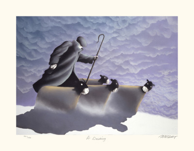 A Dusting Collectable Print by Mackenzie Thorpe