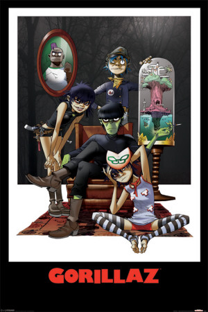 Gorillaz - Family Portrait Juliste