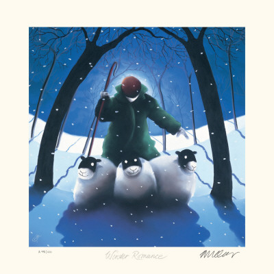 Winter Romance Collectable Print by Mackenzie Thorpe