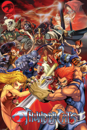 Thunder Cats Characters on Thundercats   Characters Poster Bij Allposters Nl