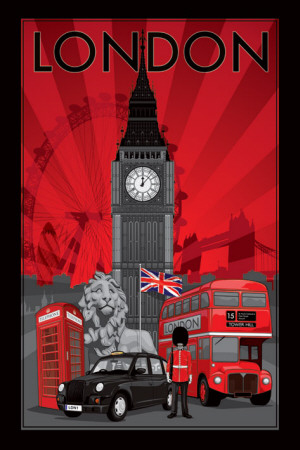 London - Decoscape Affiche