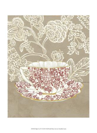High Tea IV Poster by Chariklia Zarris