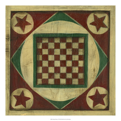 Antique Checkers Art Print