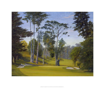 Shady Afternoon at the Olympic Club, No. 11 Lake Course Premium Giclee Print by Michael G. Miller