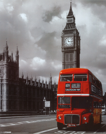 London Red Bus Posters
