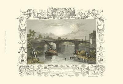 Windsor Bridge Prints by William Tombleson