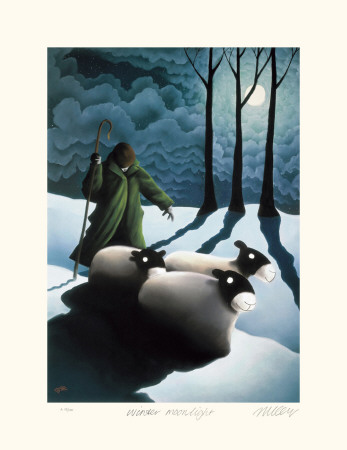 Winter Moonlight Collectable Print by Mackenzie Thorpe