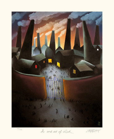 In and Out of Work Collectable Print by Mackenzie Thorpe
