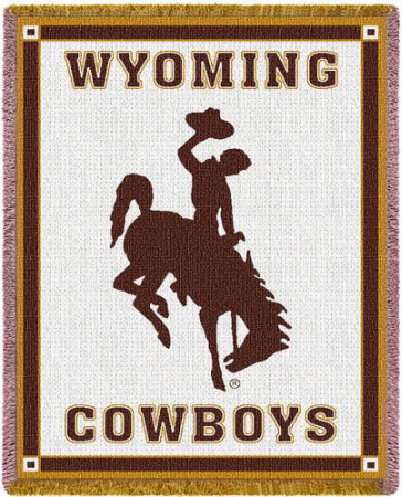 University of Wyoming, Cowboys Throw Blanket