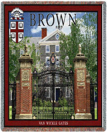 Brown University, Van Wickles Memorial Gate Throw Blanket