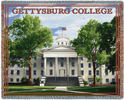 Gettysburg College, Pennsylvania Hall Throw Blanket
