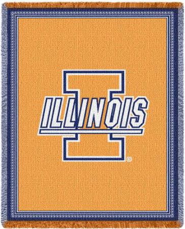 University of Illinois Throw Blanket